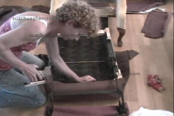 Bọc da ghế massage Nhật Bản