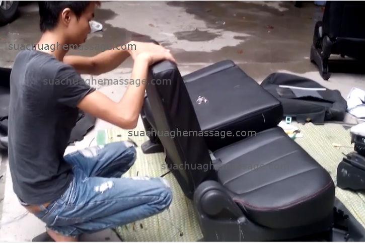 Thay da ghế massage Poongsan