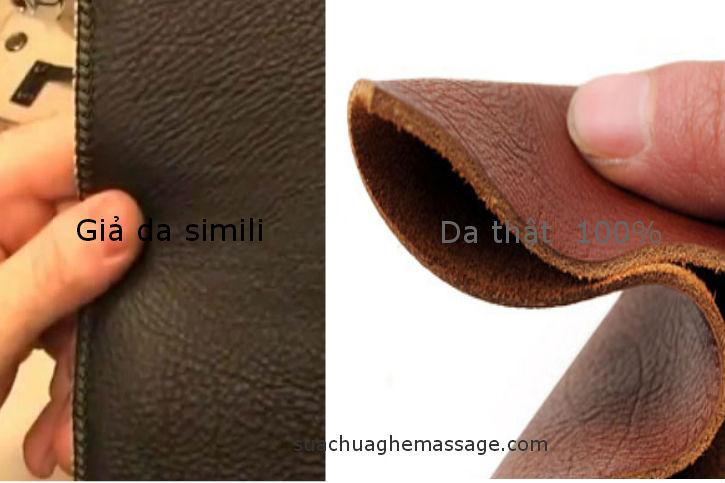 So sánh da thật và giả da simili của ghế massage