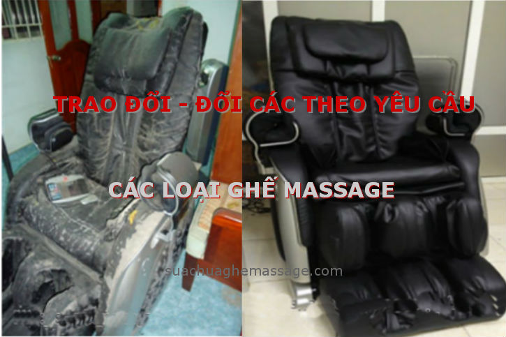 Đổi các ghế massage cũ lấy ghế massage mới theo yêu cầu