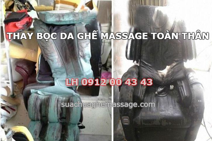 Thay một bộ da ghế massage toàn thân có đắt không