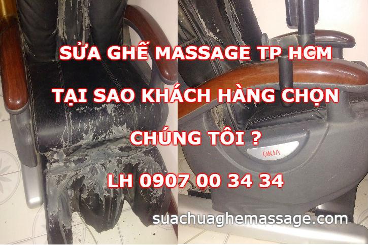 Sửa ghế massage Tp HCM tại sao khách hàng chọn chúng tôi