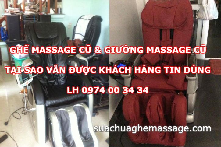 Ghế massage cũ và giường massage cũ tại sao vẫn được tin dùng