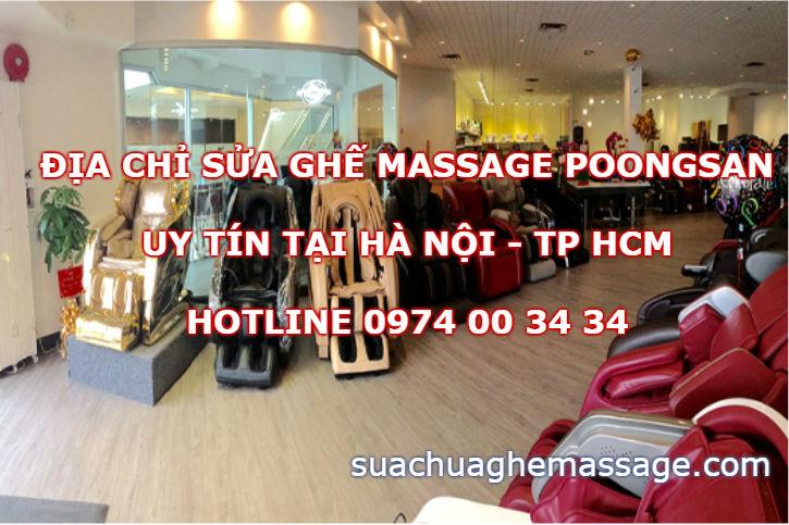 Địa chỉ sửa ghế massage Poongsan uy tín tại Hà Nội