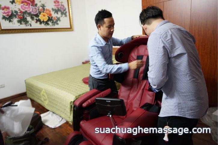 Sửa ghế massage khách hàng cười ra nước mắt vì sao