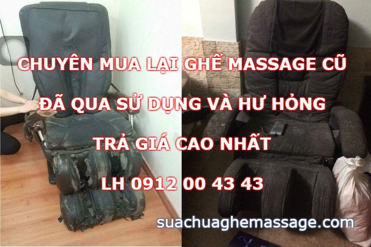 Mua lại ghế massage cũ đã qua sử dụng