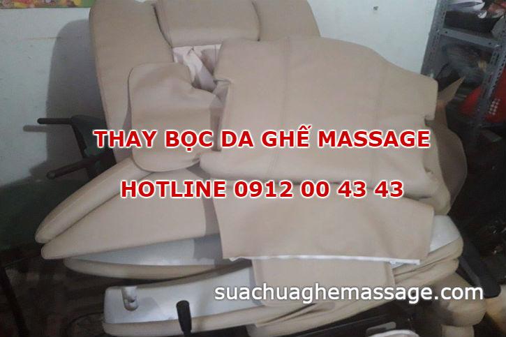Khách hàng ham rẻ bọc lại da ghế massage tại tiệm bọc ghế sofa