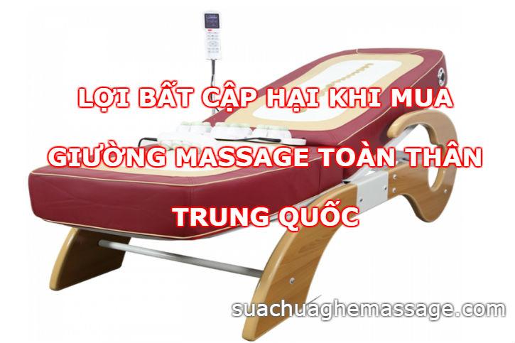 Giường massage toàn thân Trung Quốc lợi bất cập hại