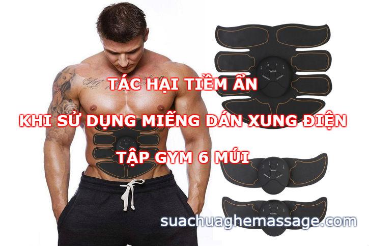 Cẩn thận khi sử dụng máy xung điện tập Gym 6 múi EMS
