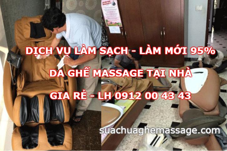 Dịch vụ làm sạch da ghế massage