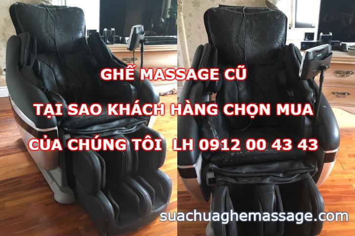 Ghế massage cũ tại sao khách hàng chọn mua của chúng tôi