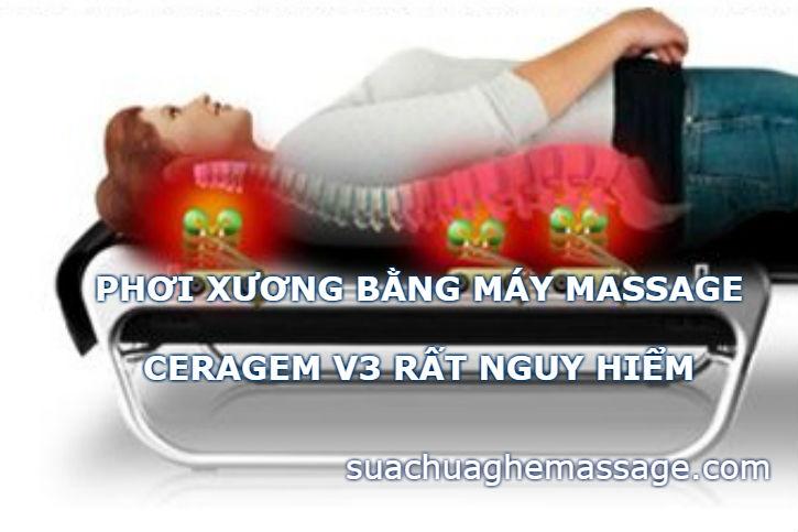 Nằm máy massage Ceragem V3 bị khô xương mỏi mệt vì sao