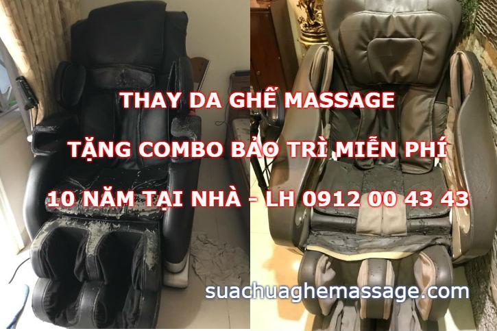 Đầu năm thay da ghế massage tặng combo bảo trì 10 năm