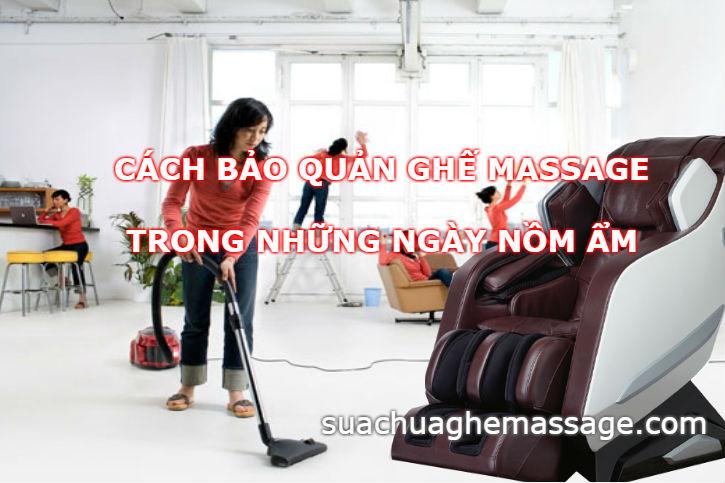 Cách bảo quản ghế massage trong những ngày nồm ẩm