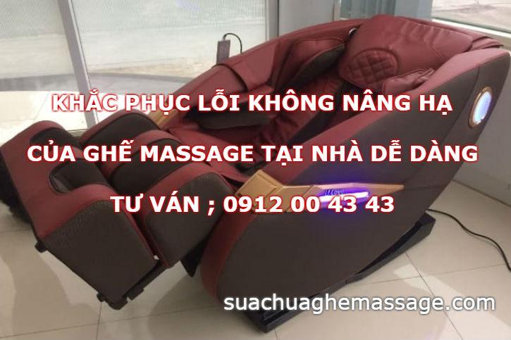 Khắc phục lỗi không nâng hạ ghế massage tại nhà dễ dàng
