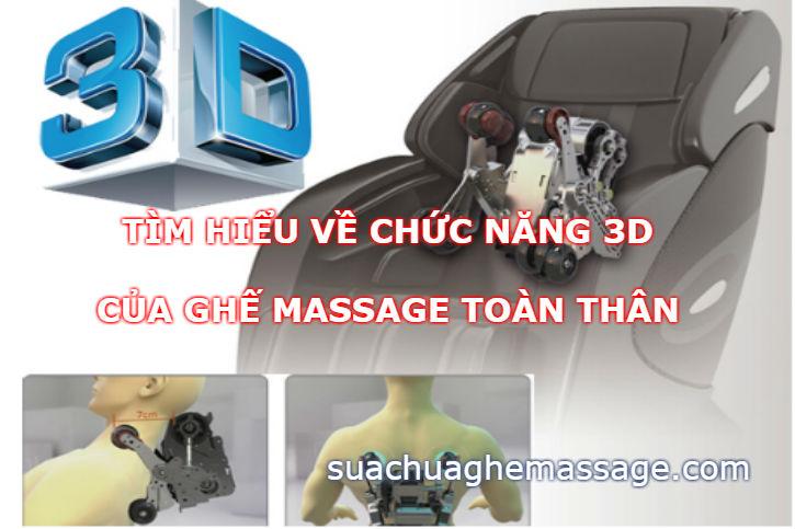 Tìm hiểu về chức năng 3D của ghế massage toàn thân