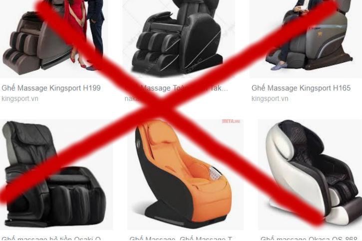 Một sô thương hiệu ghế massage thanh lý cũ không ai mua