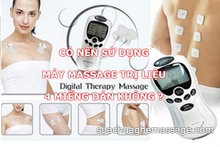 Có nên sử dụng máy massage trị liệu 4 miếng dán không