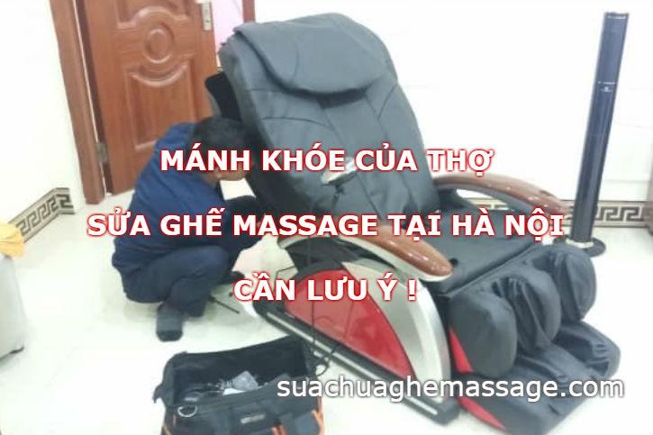Mánh khóe của thợ sửa ghế massage tại Hà Nội