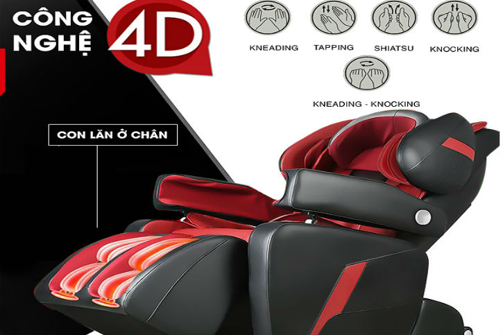 Ghế massage có 4D 5D và 6D Không thực hư ra sao
