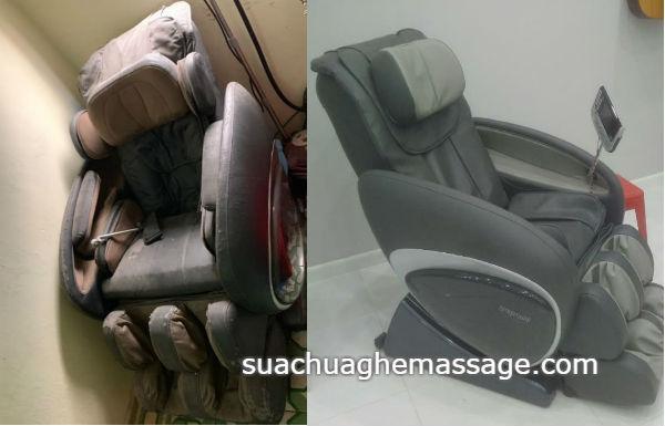 Thay da ghế massage khách hàng mất tiền vì tin theo hãng
