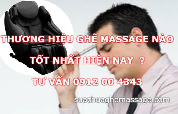 Thương hiệu ghế massage tốt nhất hiện nay