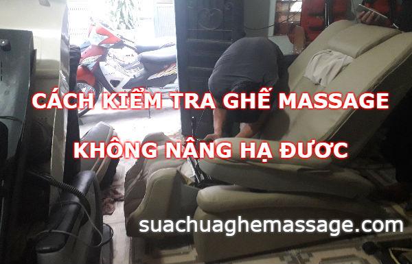 Cách kiểm tra ghế massage không nâng hạ được