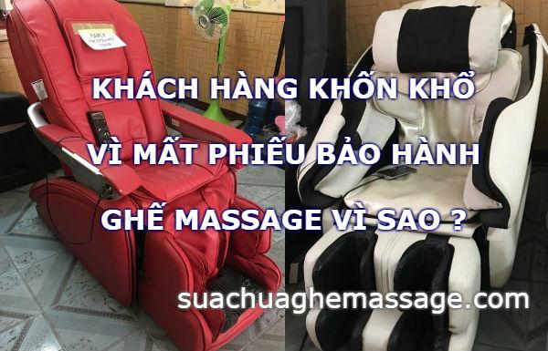 Khách hàng khốn khổ vì mất phiếu bảo hành ghế massage