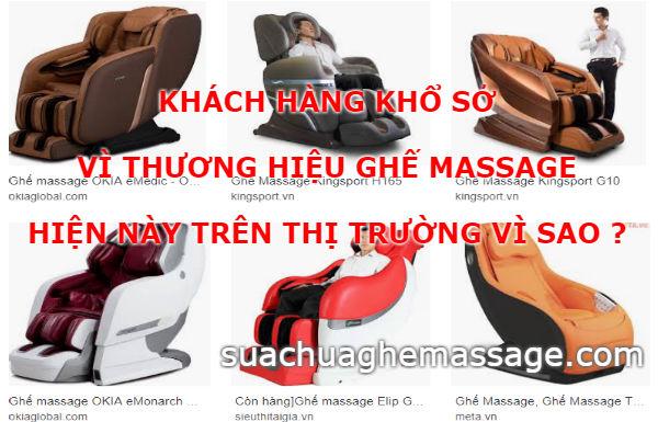 Khách hàng khổ sở vì các thương hiệu ghế massage