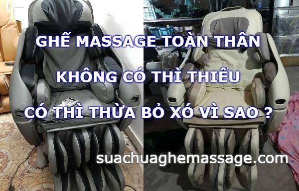 Ghế massage không có thì thiếu có thì thừa bỏ xó vì sao