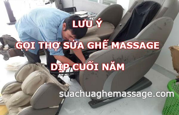 Cuối năm thợ sửa ghế massage mọc lên như nấm