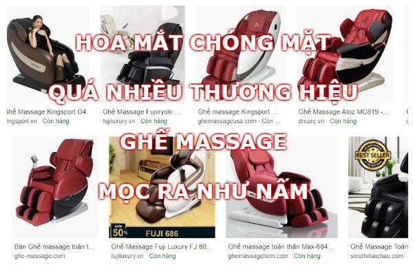 Hoa mắt chóng mặt với các thương hiệu ghế massage mọc ra