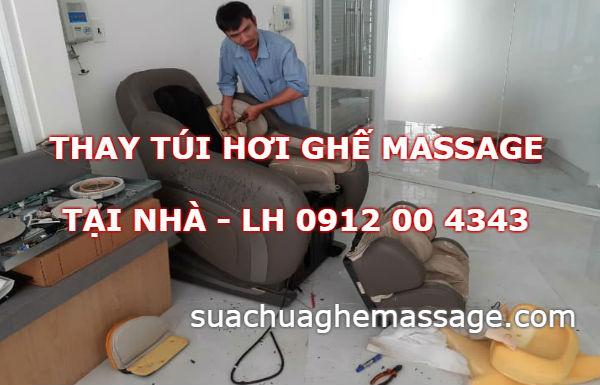 Ghế massage vẫn thấy ra hơi tại sao túi khí bóp không căng