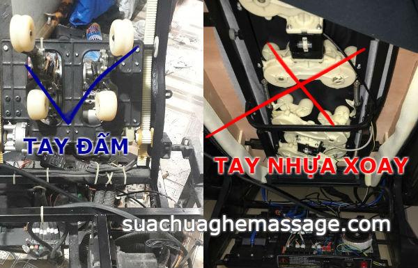 Cách phân biệt ghế massage sử dụng tay đấm và tay xoay