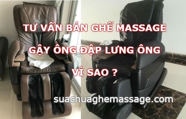 Gậy ông đập lưng ông của người bán ghế massage mới