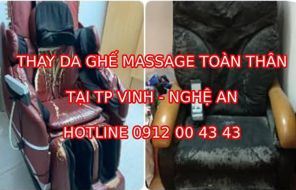 Thay da ghế massage tại TP Vinh