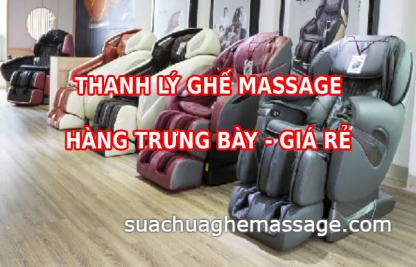 Thanh lý ghế massage trưng bày