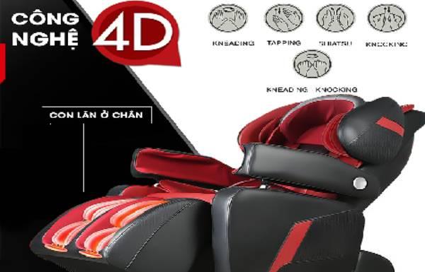 Phân biệt ghế massage 3D với ghế công nghệ 4D và 5D