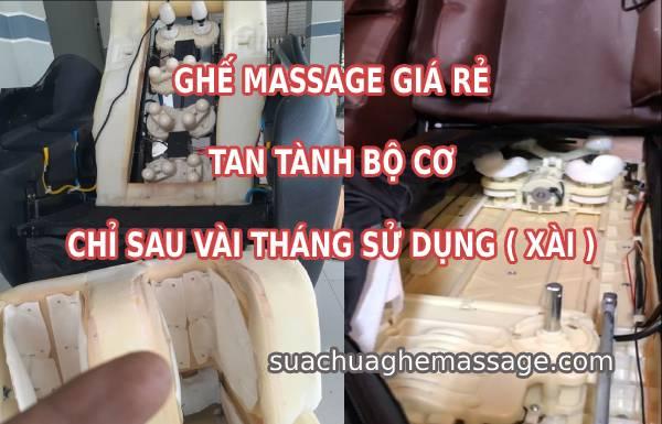 Ghế massage giá rẻ tan tành bộ cơ chỉ sau vài tháng sử dụng