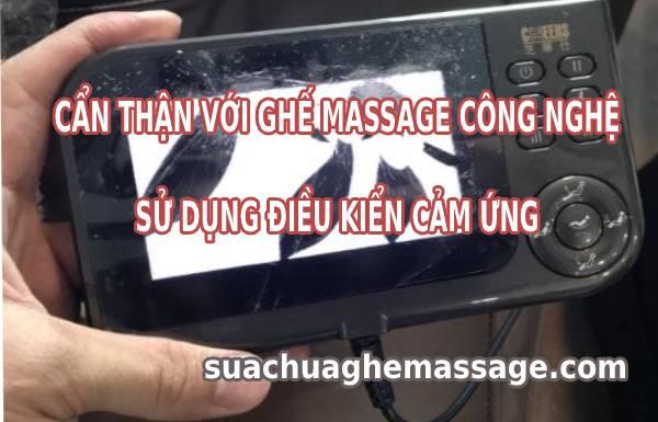 Ghế massage công nghệ điều khiển cảm ứng khổ người dùng