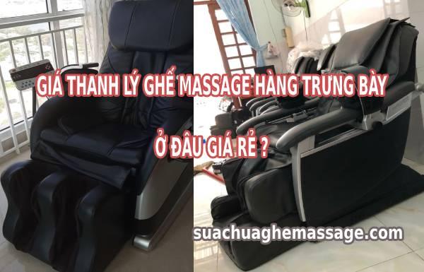 Giá thanh lý ghế massage hàng trưng bày
