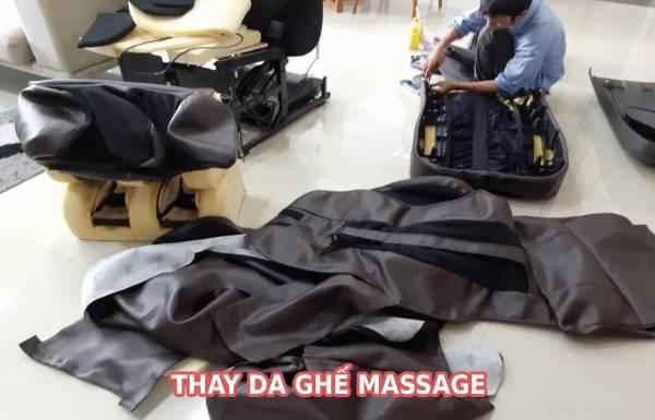 Thay da ghế massage