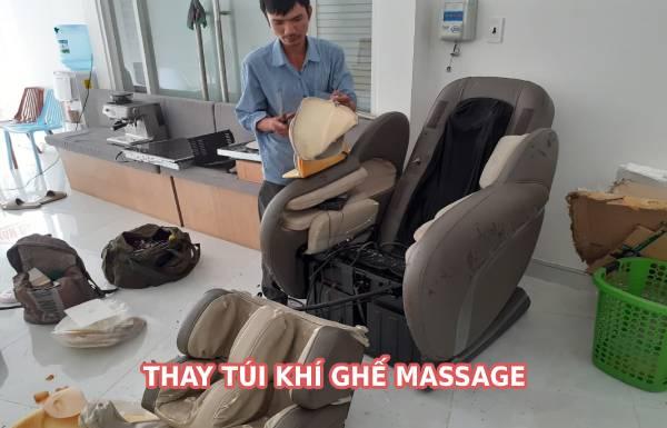 Thay túi khí ghế massage