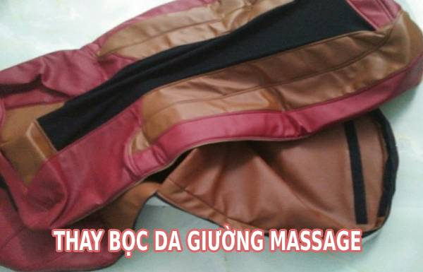 Thay da giường massage