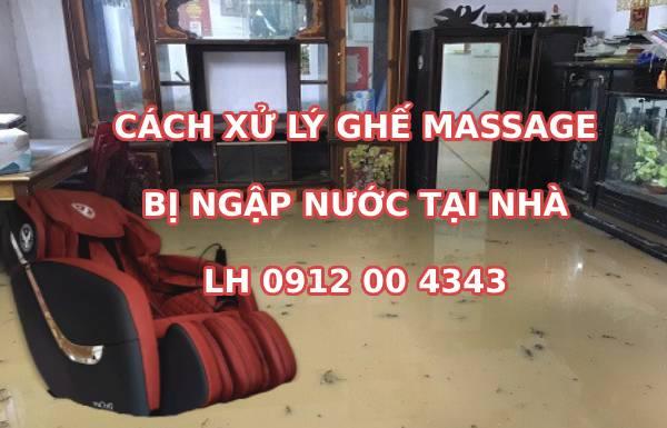 Cách xử lý ghế massage bị ngập nước