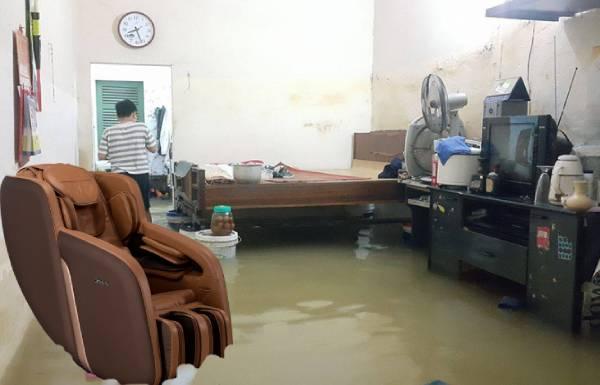 Ghế massage bị ngập nước có sửa chữa được không