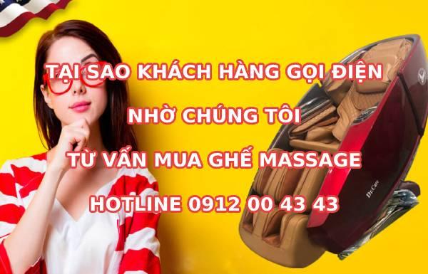 Tại sao khách hàng gọi điện nhờ tư vấn mua ghế massage