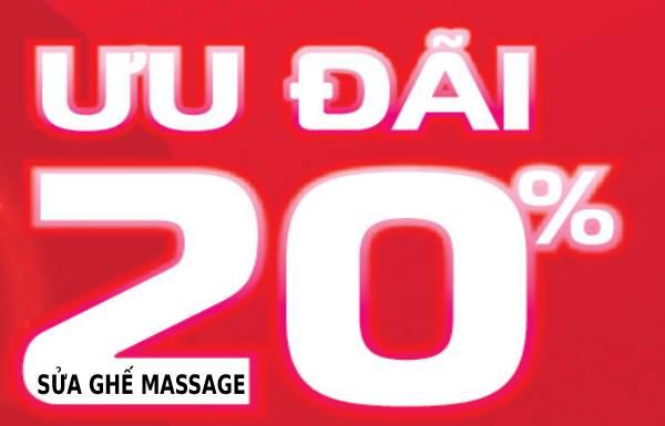 Ưu đại giảm giá 20% sửa ghế massage hỗ trợ dịch bệnh